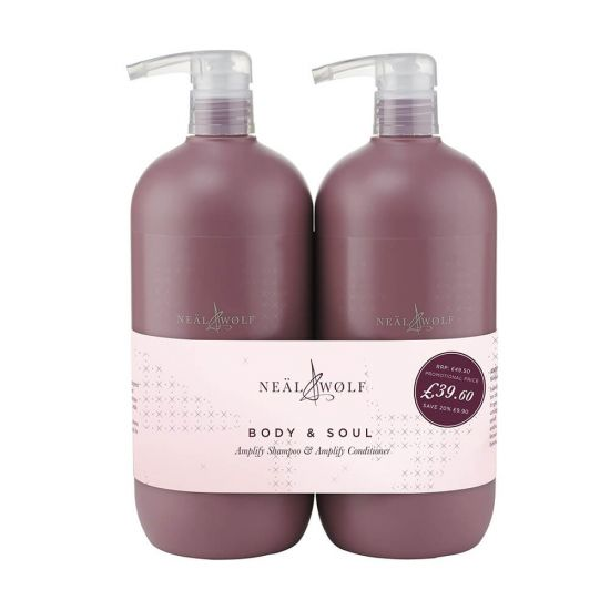 Neal & Wolf Amplify Body & Soul Volumising Shampoo & Conditioner 950ml Duo