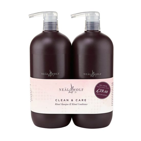 Neal & Wolf Clean & Care Ritual Shampoo & Conditioner 950ml Du