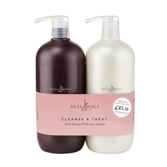 Neal & Wolf Cleanse & Treat Ritual Shampoo & Harmony Treatment 950ml Duo