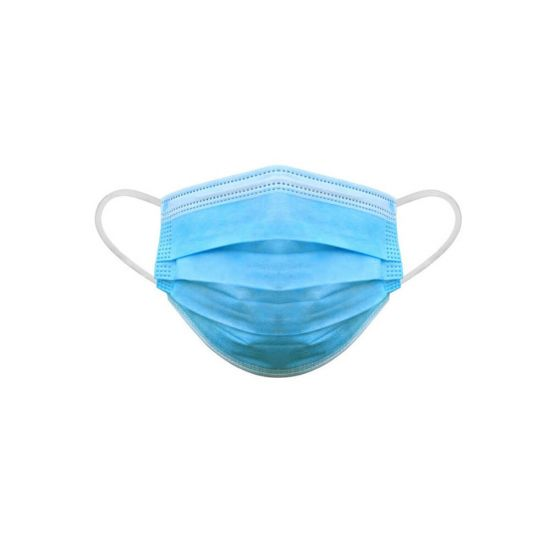 3 Ply Blue Face Mask PPE - Pack of 50