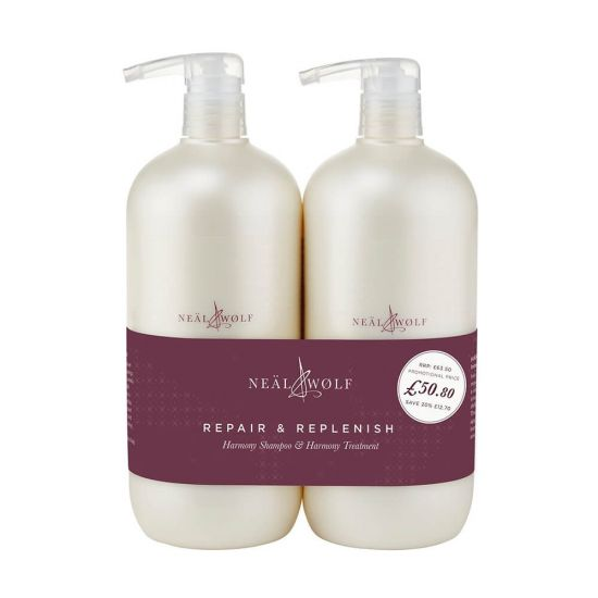 Neal & Wolf HARMONY Repair & Replenish Shampoo & Treatment 950ml Duo