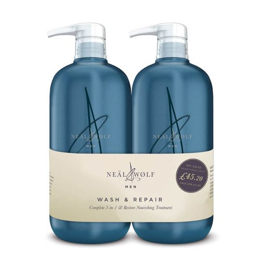 Neal & Wolf Wash & Repair Complete 3-in 1 & Treatment 950ml Duo